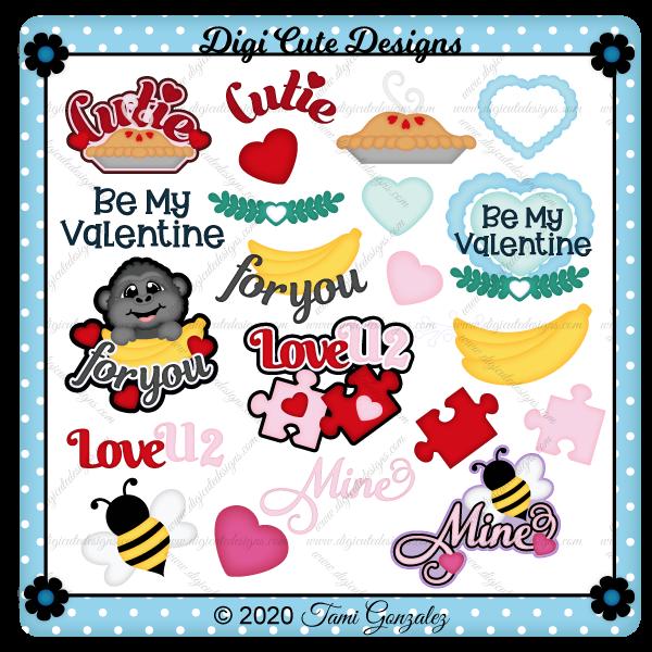 Valentine Titles - Set 2 Clip Art