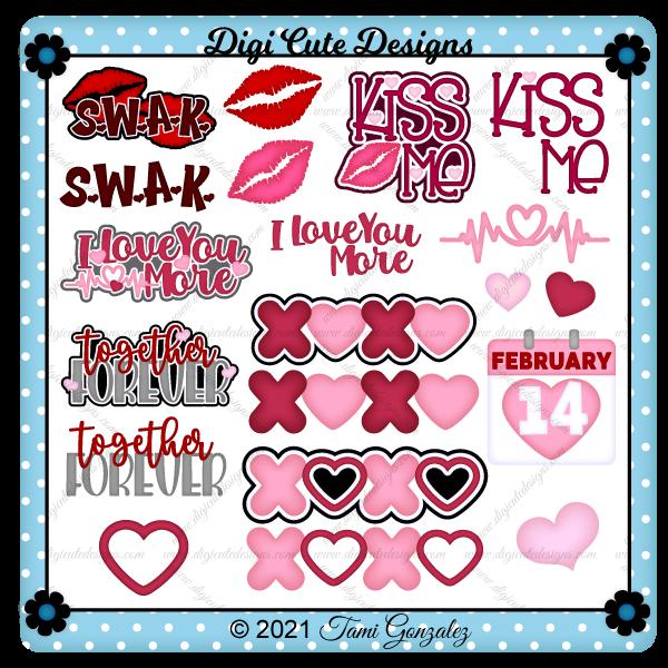 Valentine Titles - Set 3 Clip Art