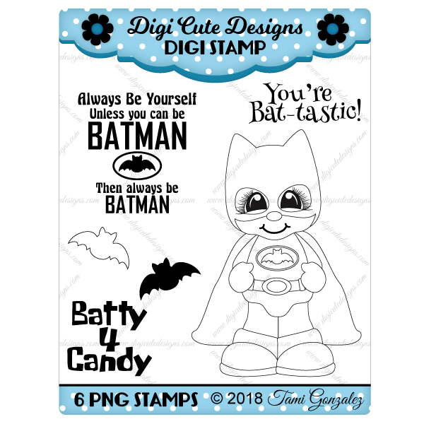 Bat Boy Digi Stamp-batman, halloween, comic, bats