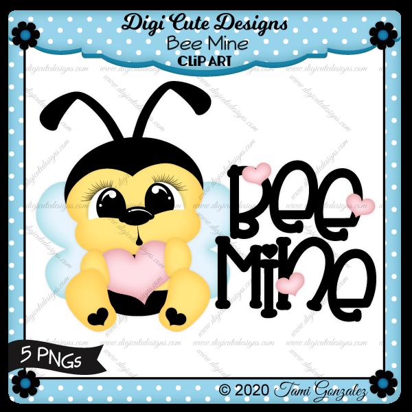 Bee Mine Clip Art-Valentines Day, love, heart