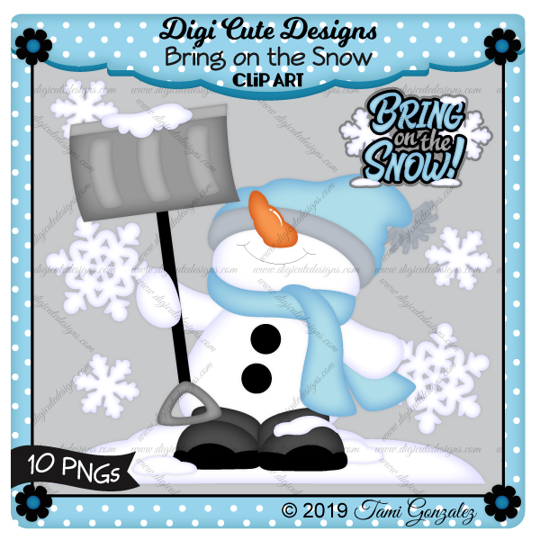 Bring on the Snow Clip Art-Snowman, snow, snowflake, winter, shovel