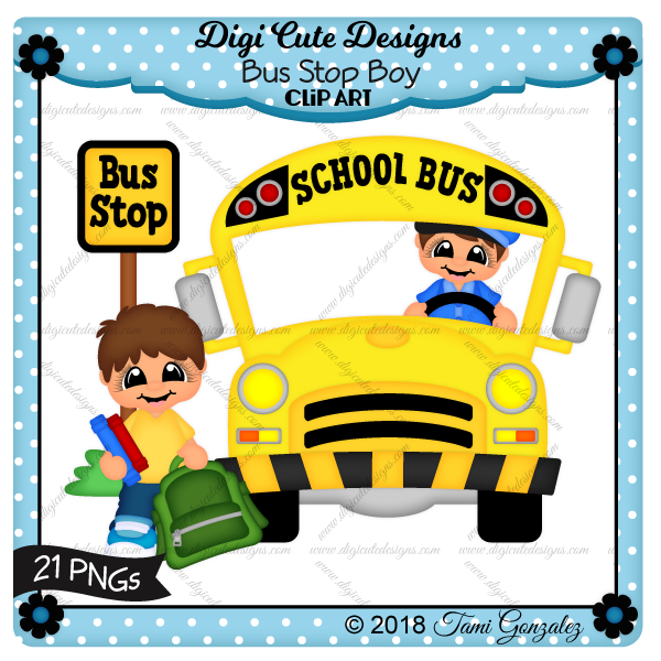 Bus Stop Boy Clip Art-school, bus, book bag, books, bus driver