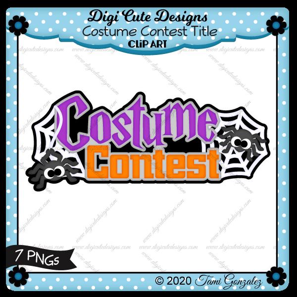 Costume Contest Title Clip Art-spider, web, Halloween