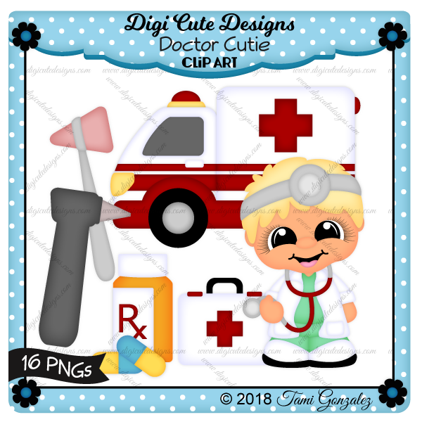 Doctor Cutie Clip Art-doctor, ambulance, pills, medication