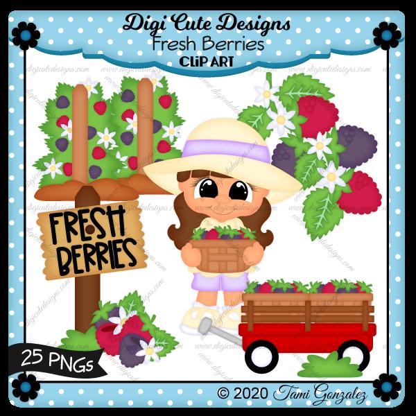 Fresh Berries Clip Art-berry, raspberry, raspberries, blackberry, blackberries, basket, wagon, vine, leaf, verry patch, sign, sun hat