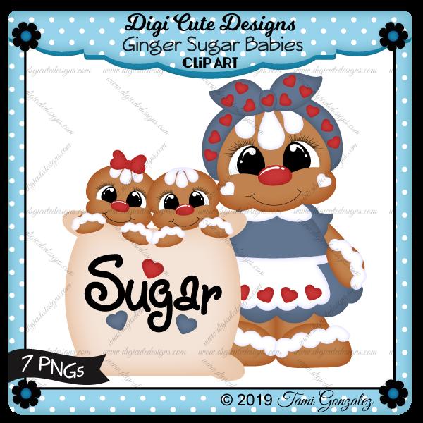 Ginger Sugar Babies Clip Art-gingerbread, christmas, baking, mom, hearts