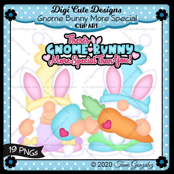 Gnome Bunny More Special Clip Art-gnome, bunny, carrot, egg, Easter, heart
