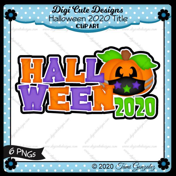 Halloween 2020 Title Clip Art-pandemic, mask, pumpkin, jack o lantern, star, stars, covid 19, coronavirus