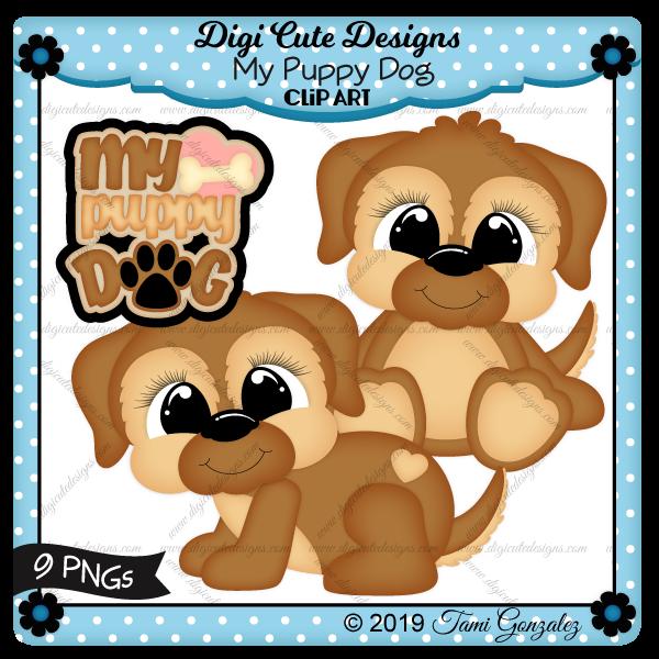 My Puppy Dog Clip Art-dog, doggie, puppy, animal, pet, paw, paw print, heart, bone