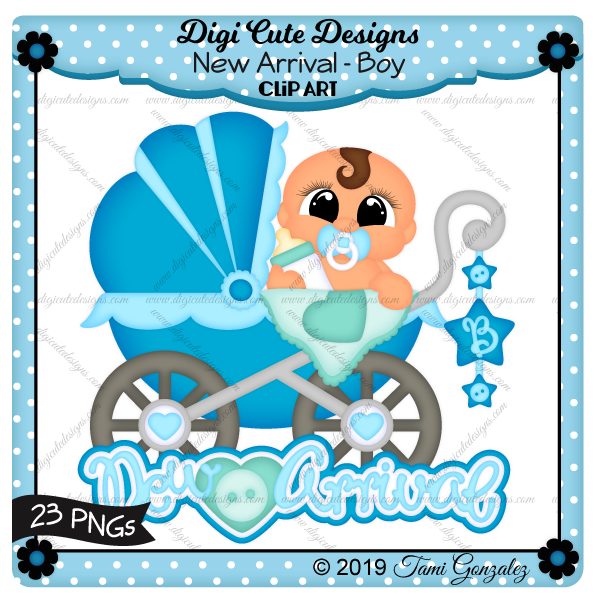 New Arrival - Boy Clip Art-baby, boy, carriage, stroller, buggie, bottle, button