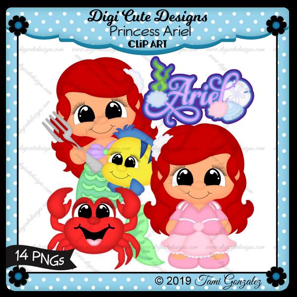 Princess Ariel Clip Art-disney, mermaid, fork, flounder, fish, sabastian, crab, lobster, sea shells
