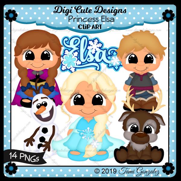 Princess Elsa Clip Art-disney, princess, Frozen, olaf, kristof, sven, anna, snowflake