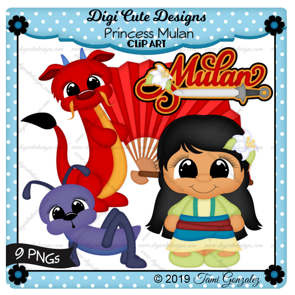 Princess Mulan Clip Art-disney, princess, fan, dragon, cricket, sword, flower