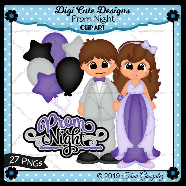 Prom Night Clip Art-balloons, dance, school, boy, girl, corsage