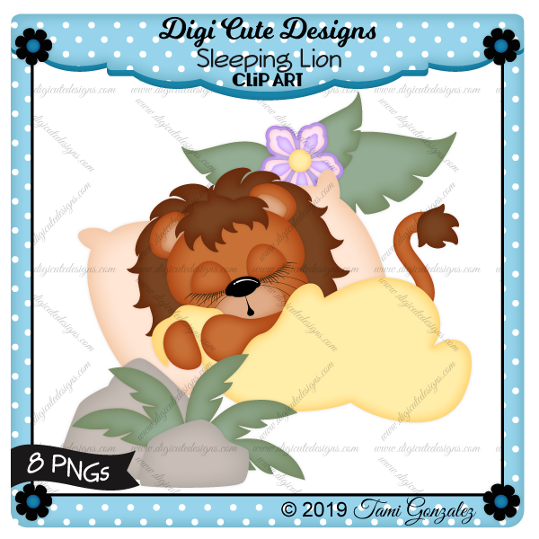 Sleeping Lion Clip Art-lion, leaf, leaves, flower, pillow, blanket, sleep, rock