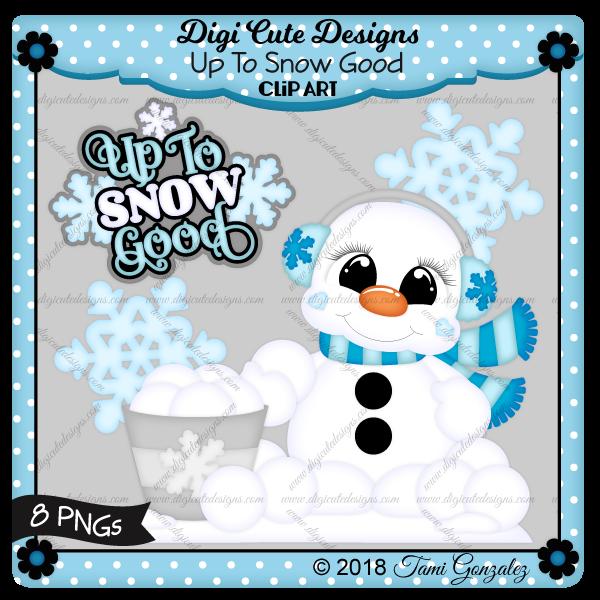 Up To Snow Good Clip Art-Christmas, snow, snowflake, snowman, scarf, snowballs, winter
